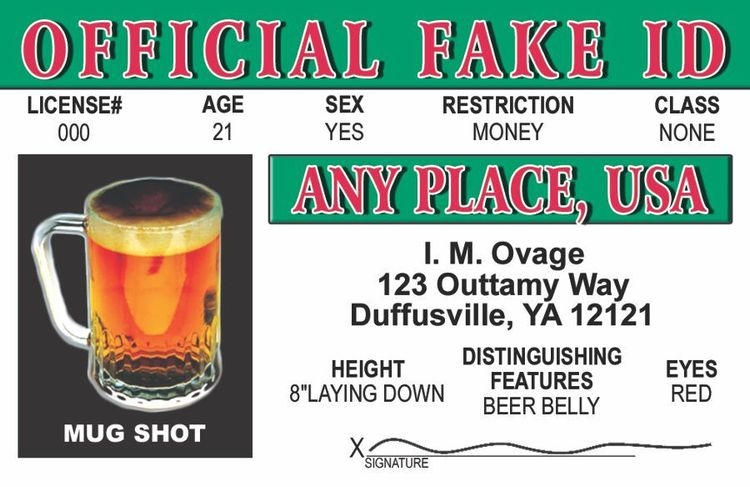 Official Fake ID Card