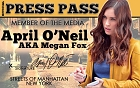 Megan Fox Press Pass ID