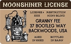 Moonshiner License ID