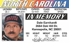Earnhardt/Memorial ID