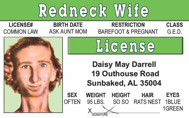 Signs 4 Fun Nmcdid Man Cards Drivers License