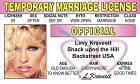Temp Marriage License ID