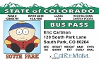 So Park - Cartman Bus Pass