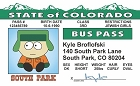 So Park - Kyle Bus Pass