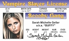 Buffy - Sarah Gellar ID