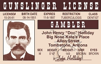 Doc Holliday ID