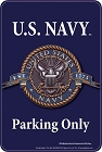 Navy Parking Sm. Parking Sign