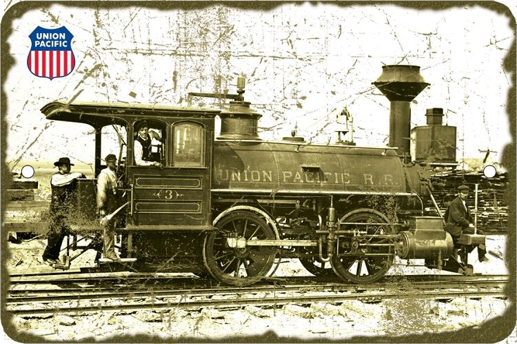 Union Pacific Locomotive Sm  Parking Sign | Signs 4 Fun