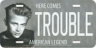 Trouble James Dean License Plate