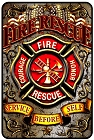 Fire Rescue Sm. Parking Sign