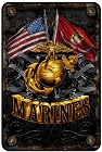 Marines Flags Sm. Parking Sign