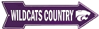 Kansas State Wildcats Country Arrow Sign