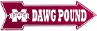 Mississippi State Dawg Pound Arrow Sign