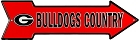 Georgia Bulldog Country Arrow Sign