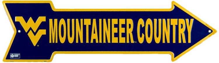West Virginia University - Mountaineers Country Arrow Sign