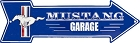Ford Mustang Garage Arrow Sign