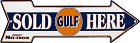 Gulf Sold Here Arrow Sign