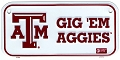Texas  A&M Aggies Bike Tag