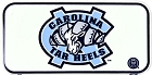 North Carolina Tar Heels Bike Tag