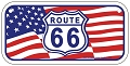 Route 66 w/Flag Bike Tag