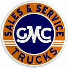 GMC Sales & Service 24 inch Large Round Sign
