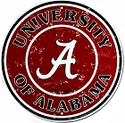 Alabama Crimson Tide 24 inch Large Round Sign