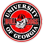 University of Georgia Bulldogs 24 inch Large Round Sign