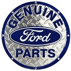 Ford Diamondplate 24 inch Large Round Sign