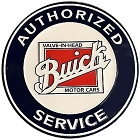 Buick Service 24 inch Large Round Sign