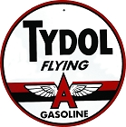 Tydol Flying A Gas 24 inch Large Round Sign