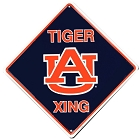 Auburn Tigers College Crossing Sign