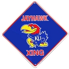 Kansas Univ. Jayhawks College Crossing Sign