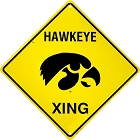 University of Iowa Hawkeyes Crossing Sign