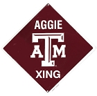 Texas A&M College Crossing Sign