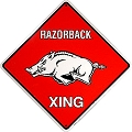 Univ. of AR Razorbacks Crossing Sign