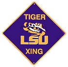 Louisiana State Tigers Crossing Sign