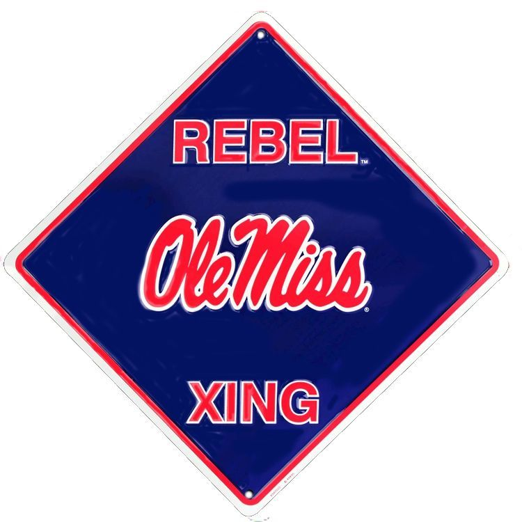 Mississippi Rebels College Crossing Sign