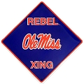 University of Mississippi Rebels Crossing Sign