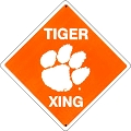 Clemson Tigers College Crossing Sign