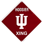 Indiana University Hoosier Crossing Sign