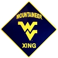 West Virginia Univ. Crossing Sign