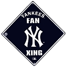 New York Yankees Fan Crossing Sign