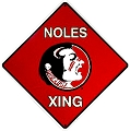 Florida State Seminoles College Crossing Sign
