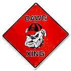 University of GA Dawg College Crossing Sign
