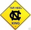 North Carolina Tar Heels College Crossing Sign