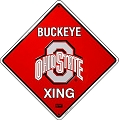 Ohio State Buckeye Crossing Sign