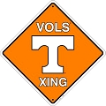 Tennessee Volunteers College Crossing Sign