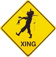 Fishing Crossing Sign
