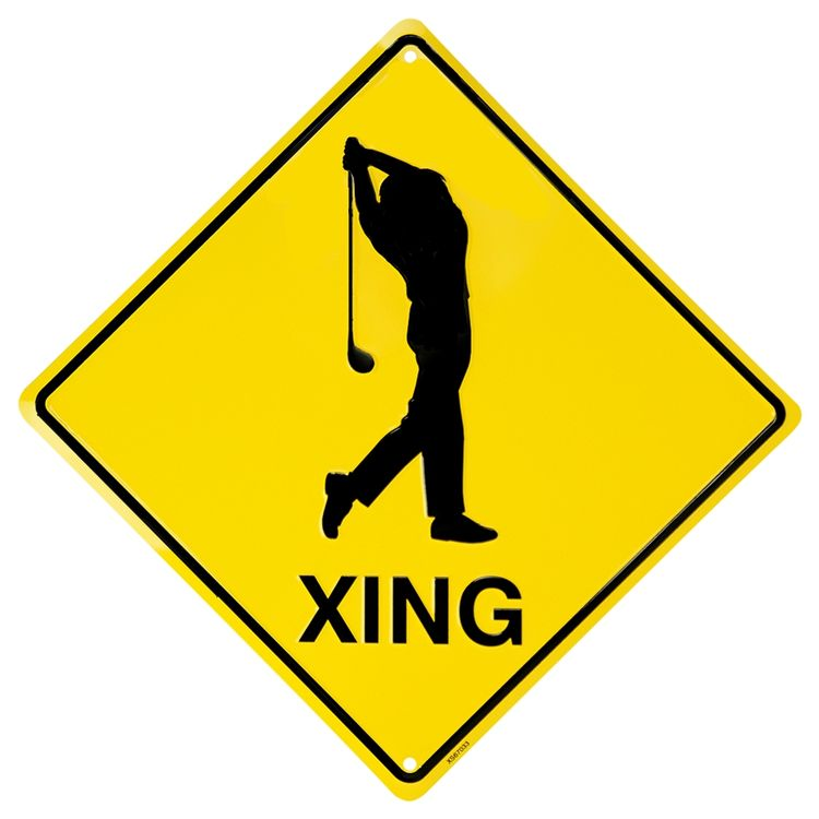Golfer Crossing Sign