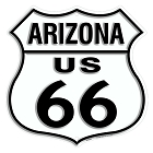 Route 66 AZ Shield Sign